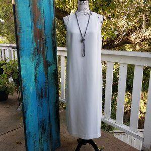 Ann Taylor Full Length Ecru Dress